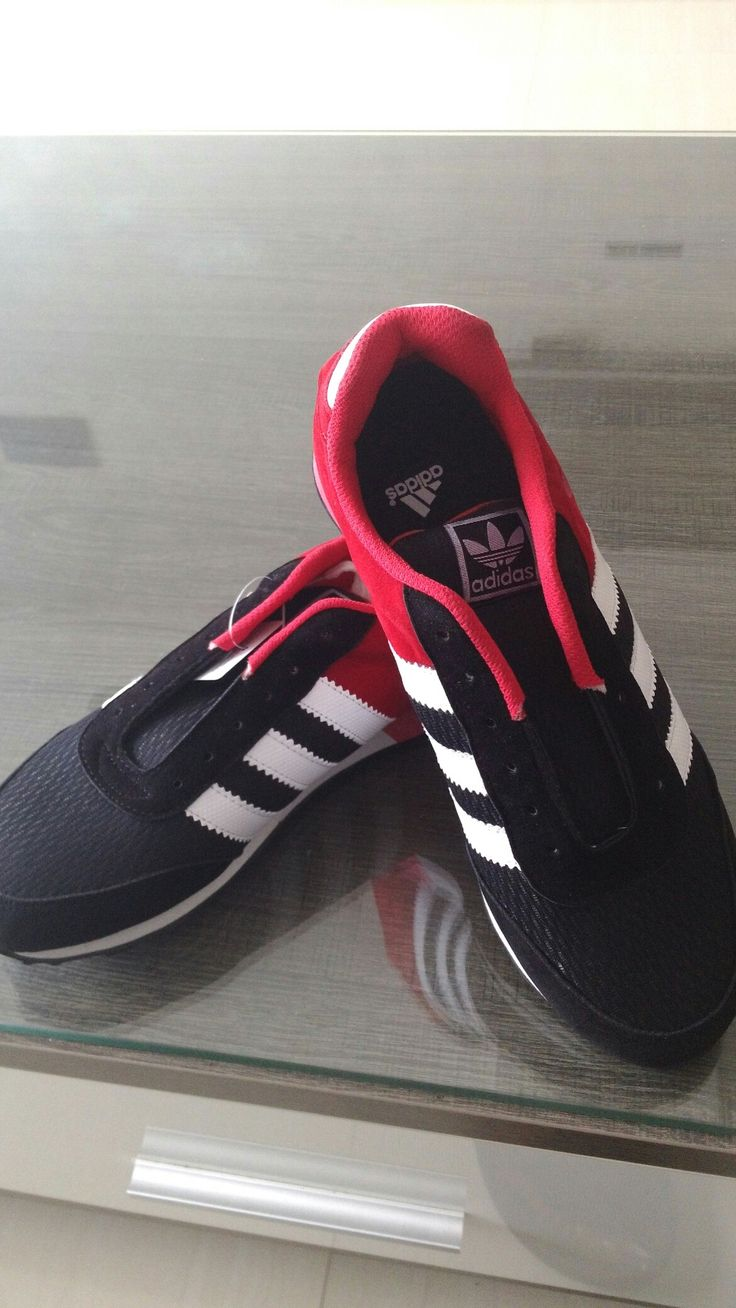 Adidas black and red