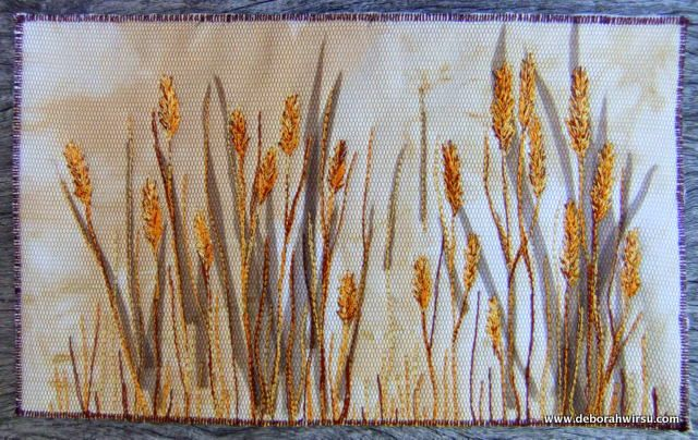 Thread sketching in action No 17 - Free stitched grasses part 2