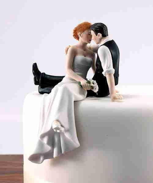 Look Of Love Romantic Bride & Groom Wedding Cake Topper - Resin