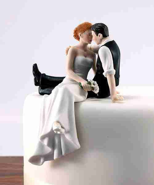 Look Of Love Romantic Bride & Groom Wedding Cake Topper - Resin
