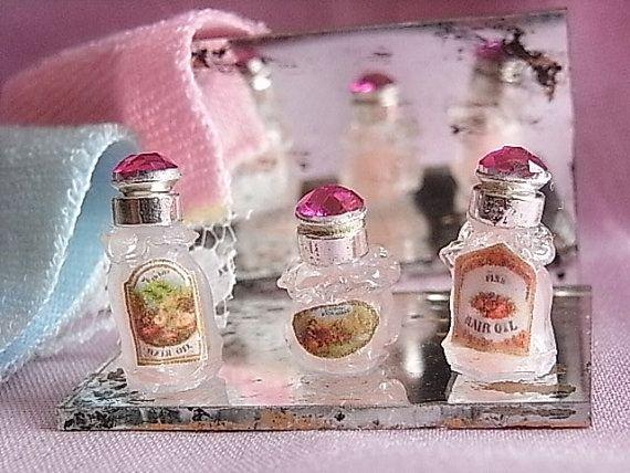 Frascos de perfume vintage por ArtLittle en Etsy