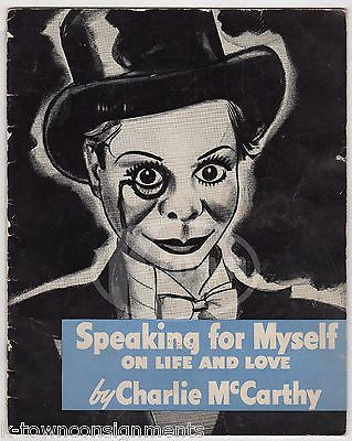 CHARLIE McCARTHY SPEAKING FOR MYSELF ANTIQUE GRAPHIC ILLUSTRATED SOUVENIR BOOK