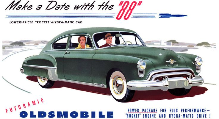 Plan59 :: Classic Car Art :: 1949 Oldsmobile 88