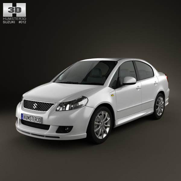 Suzuki (Maruti) SX4 sedan 2012 3d model from humster3d.com. Price: $75