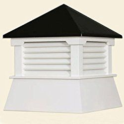 21″ Vinyl Shed Cupola with Black Aluminum Roof
