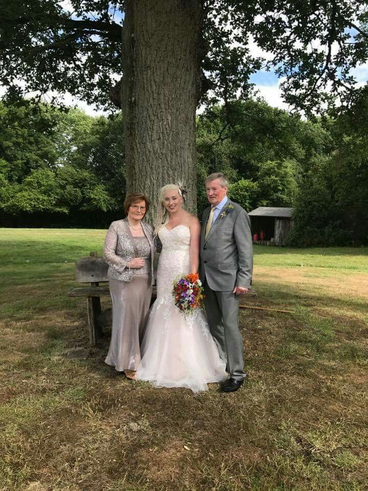Loved our Celtic Handfasting and being with my proud parents. Such an amazing day x Fascinator and birdcage veil made by myself @Asparascreations