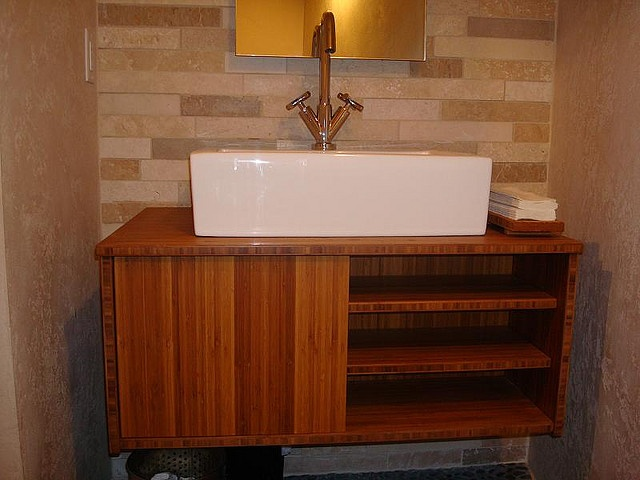 Merveilleux Plyboo Amber Edge Grain Vanity By CaraGreen, Via Flickr