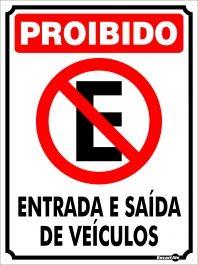 PLACA METAL PROIBIDO ESTACIONAR - PM835 | EncartAle - Soluções Inteligentes em Sinalização