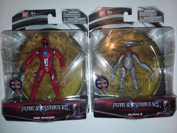 """POWER RANGERS Movie 5"""" Action Figure Lot x 2 RED RANGER & ALPHA 5 Bandai NEW MOC 