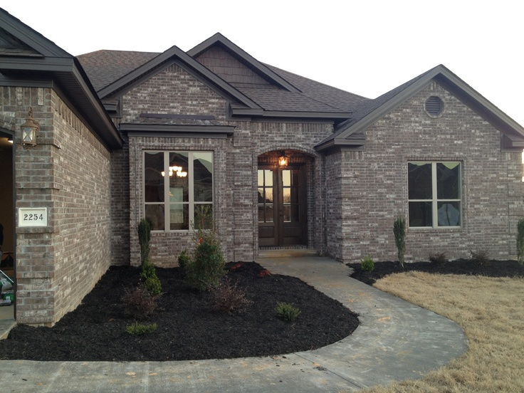 17 best images about home exteriors brick stone on Front door color ideas for brick house