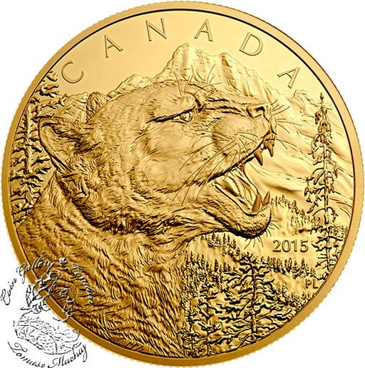 Coin Gallery London Store - Canada: 2015 $1250 Growling Cougar Gold Coin, $32,000.00