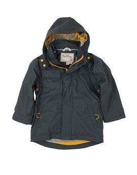 HATLEY Boys Dark Grey Raincoat. Shop here: http://www.tilltwelve.com/en/eur/product/1084318/HATLEY-Boys-Dark-Grey-Raincoat/