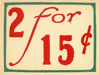 Knick of Time: Antique Graphics Wednesday - Grocery Store Price Tags and Receipt
