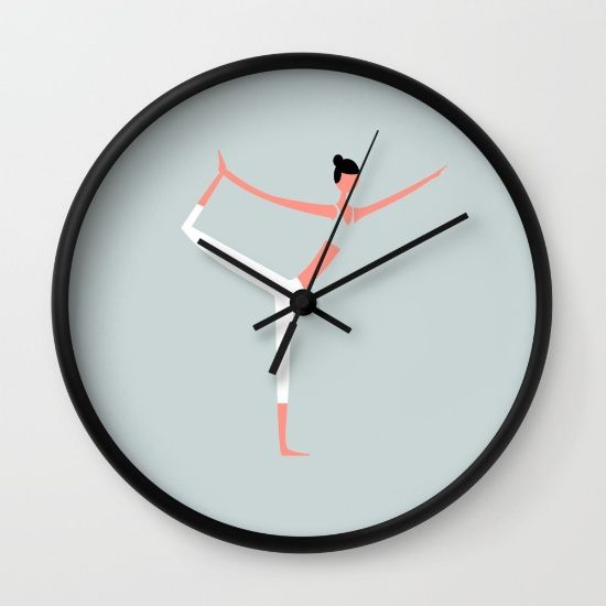 YOGA GIRL • WALL CLOCK