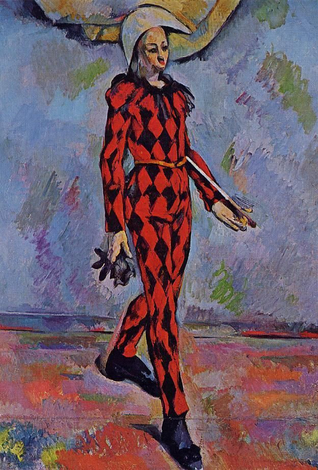 Harlequin , by Paul Cezanne