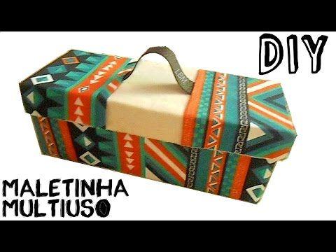 Como fazer : mala com caixa de sapato - YouTube