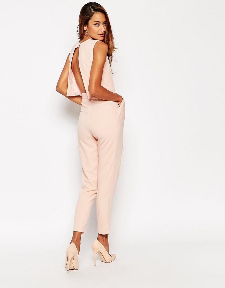 Image 2 ofASOS TALL Jumpsuit With Open Back And Pleat Detail