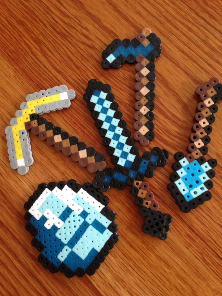 A web page tutorial explains how to make your very own Minecraft Tools using perler beads!