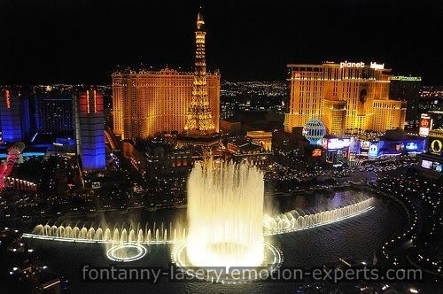Pokazy laserowy, fontanny wodne i ekrany wodne