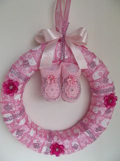 How to Make a Diaper Cake | How To Make A Diaper Cake: Pink Baby Shower Wreath
