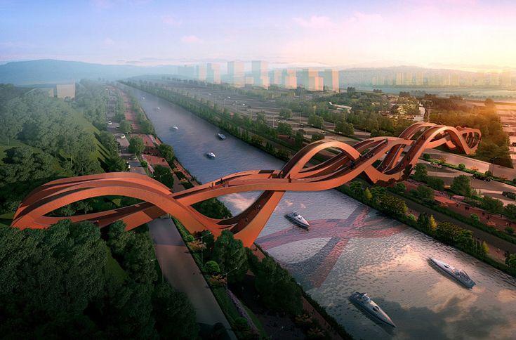 Glücksknoten: Neue Brücke von NEXT architects - DETAIL.de - das Architektur- und Bau-Portal