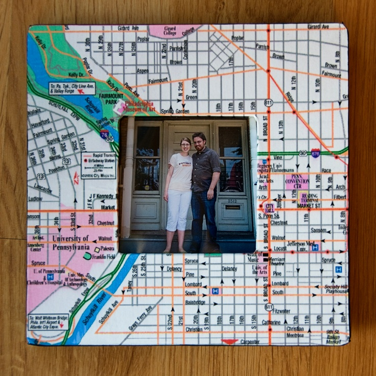 31 best 65th anniversary ideas for g g images on pinterest inexpensive wood frame map mod podge cute anniversary gift for a cute couple negle Choice Image