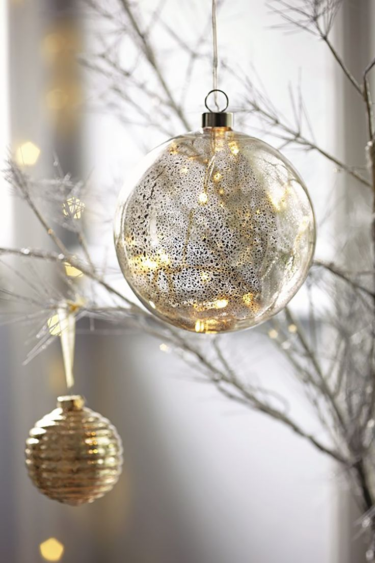 It wouldn't be a Christmas tree without fairy lights & baubles.
