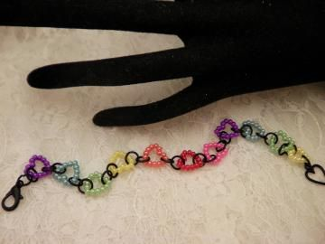 Colored Hearted Bracelet by ShellysUniqueJewelry for $12.00