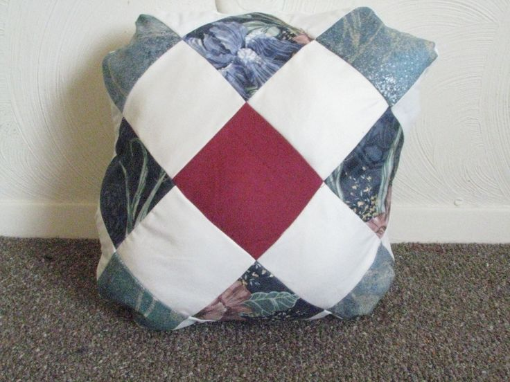 How To Make A Patchwork Throw Pillow : Upcycled Throw Pillow - Patchwork Throw pillows, Etsy and Pillows