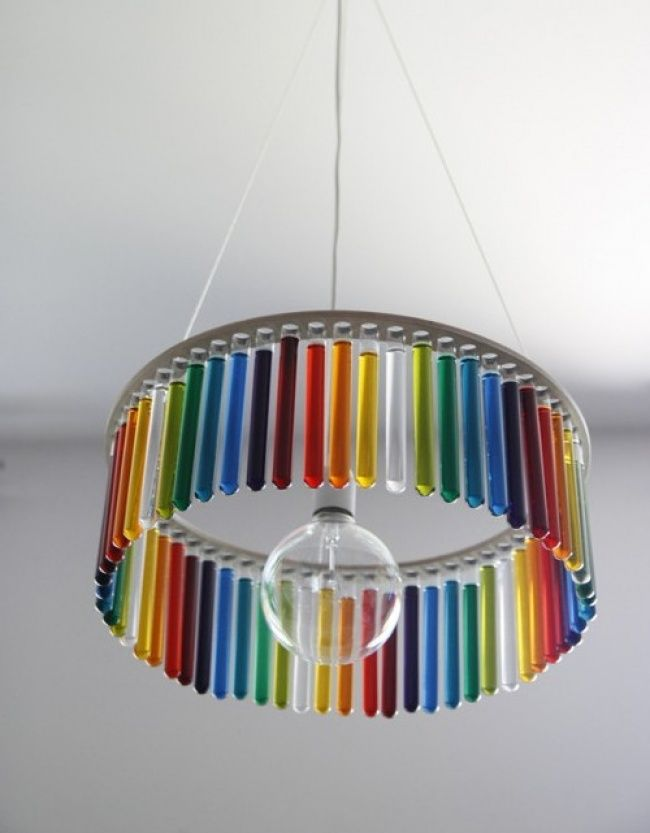 M s de 25 ideas incre bles sobre lamparas hechas a mano en - Lamparas de techo hechas en casa ...