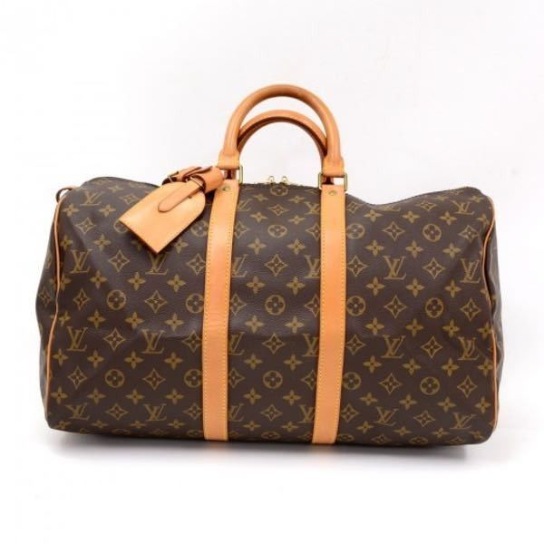Louis Vuitton Keepall 45 Monogram Canvas Duffle Travel Bag Ln162 ($580) ❤ liked on Polyvore featuring bags and luggage