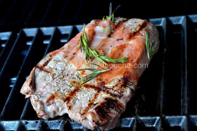 Steak de Boeuf Grillé au Jambon et Romarin © Ana Luthi Tous droits réservés http://www.l-eaualabouche.com/2016/08/steak-de-boeuf-grille-au-jambon-et-romarin.html