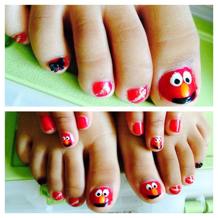 found this elmo little girl nail design here on pinterest this is my lil girls - Little Girl Nail Design Ideas