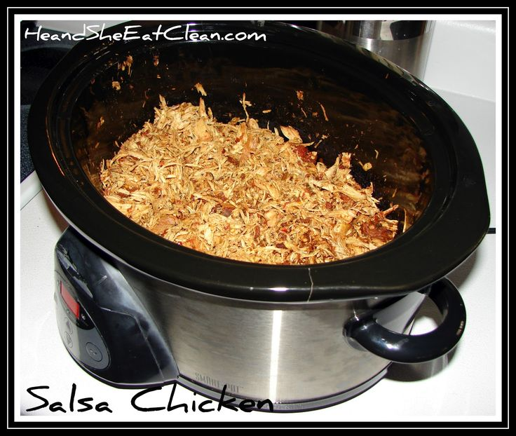 He and She Eat Clean: A Guide to Eating Clean... Married!: He and She Slow Cook :: Salsa Chicken