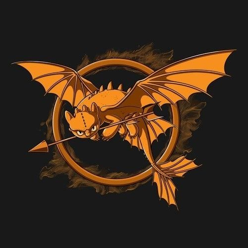 Adorable! HOW TO TRAIN YOUR #DRAGON Themed HUNGER GAMES Logo