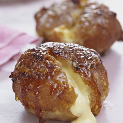 Creme Brulee Doughnuts. Find this recipe and more at Red Online.