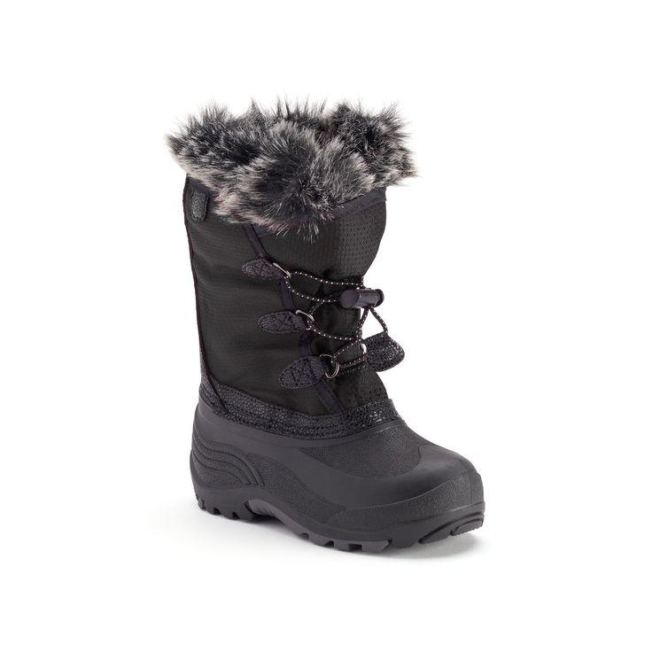 Kamik Powdery Girls' Waterproof Winter Boots, Girl's, Size: 11, Black