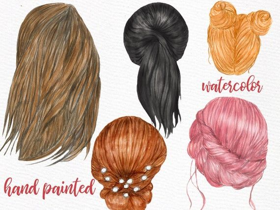 Hairstyles Clipart Girls Clipart Custom Etsy Hair Clipart Girl Clipart Long Hair Styles