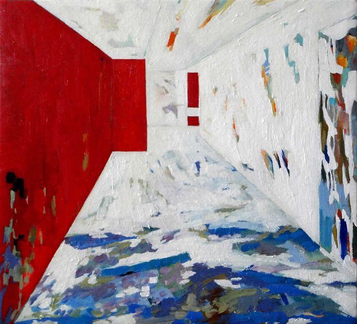 Deddingdorf snow in December II by Robert Habel. 2013. Oil on canvas. 51 x 57cm. $800.