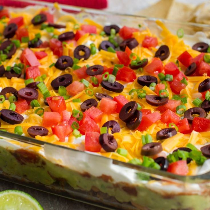 Learn to make 8 Layer Fiesta Dip. Read these easy to follow recipe instructions and enjoy 8 Layer Fiesta Dip today!