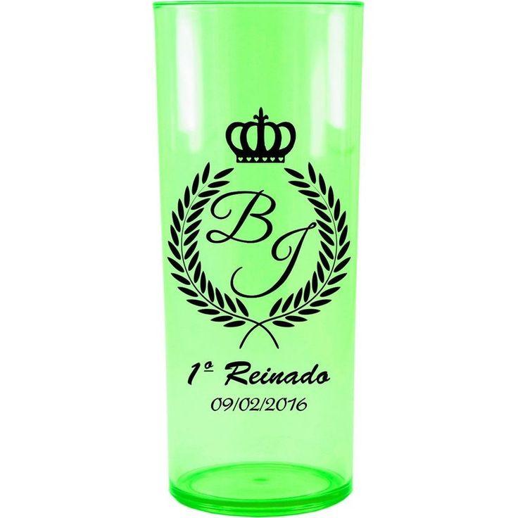 Copo Acrílico Personalizado Aniversário 1º Aninho Verde Neon - ArtePress | Brindes, Canecas, Copos de Acrílico Personalizado