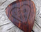 Handmade Premium Wood Guitar Pick - Cocobolo Rosewood - Actual Pick Shown - No Stock Photos