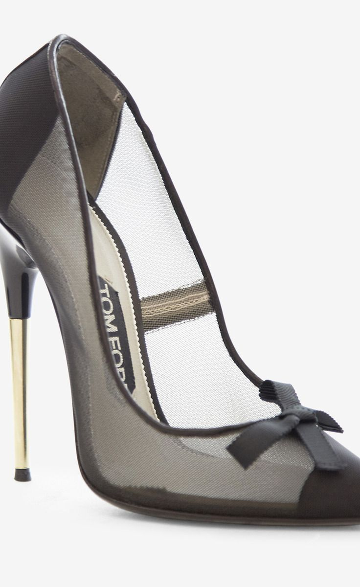 Tom Ford Black And Silver Pump: Love it