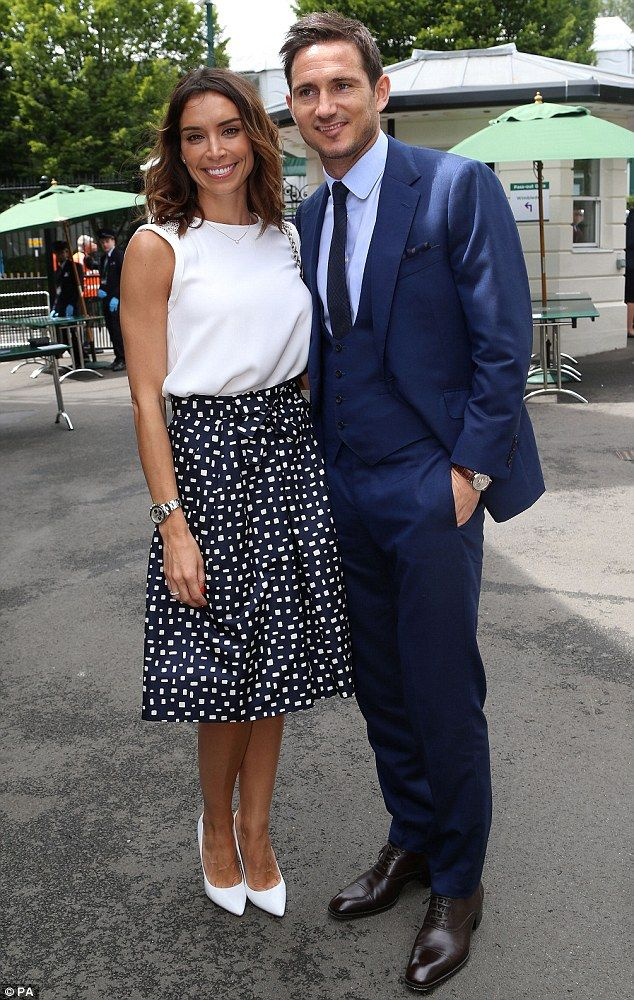 Frank Lampard and Christine Bleakley at Wimbledon