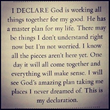 My declaration.