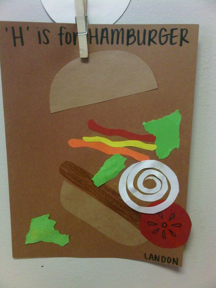 'H' is for hamburger.