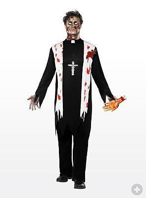 Priest Zombie Costume - maskworld.com