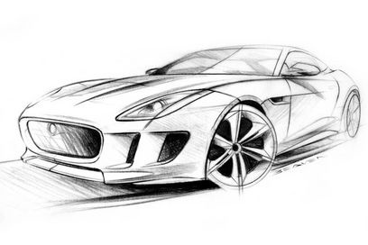 Jaguar C-X16 design sketches