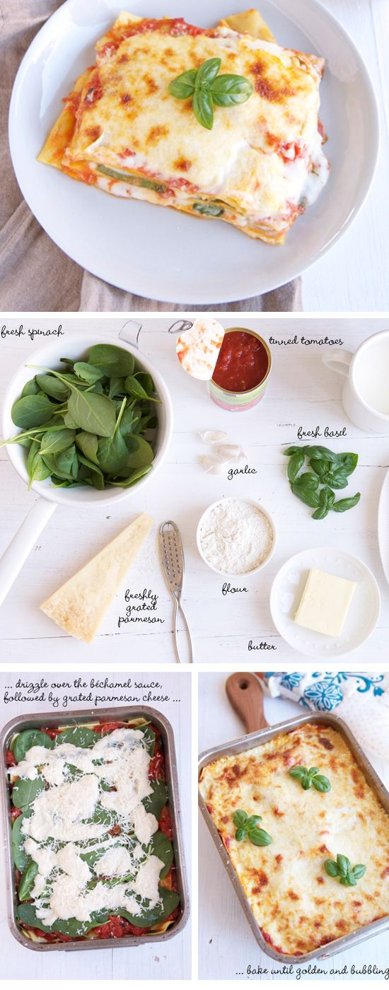 Worlds Most Delicious Spinach and Tomato Lasagne | Click Pic for 22 Easy Romantic Dinner Recipes for Two | Easy Valentines Dinner Ideas for Him