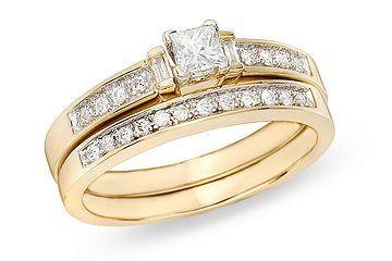 1/3 Carat Diamond 14K Yellow Gold Diamond Bridal Engagement Ring - RDB_016548
